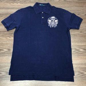 Polo Ralph Lauren Navy Club Crest Polo Shirt L